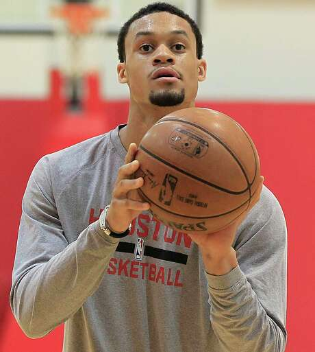 KJ McDaniels was acquired in a February trade with Philadelphia. He was using sparingly by the Rockets after averaging 9.2 points for the 76ers. Photo: James Nielsen, Staff / © 2015  Houston Chronicle