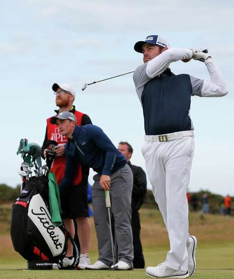 South Africa's Louis Oosthuizen, right, and Paul Dunne, left, co-leaders along with Jason Day, head into Monday's final round at the British Open one stroke ahead of favorite Jordan Spieth. Photo: Jon Super, STR / AP