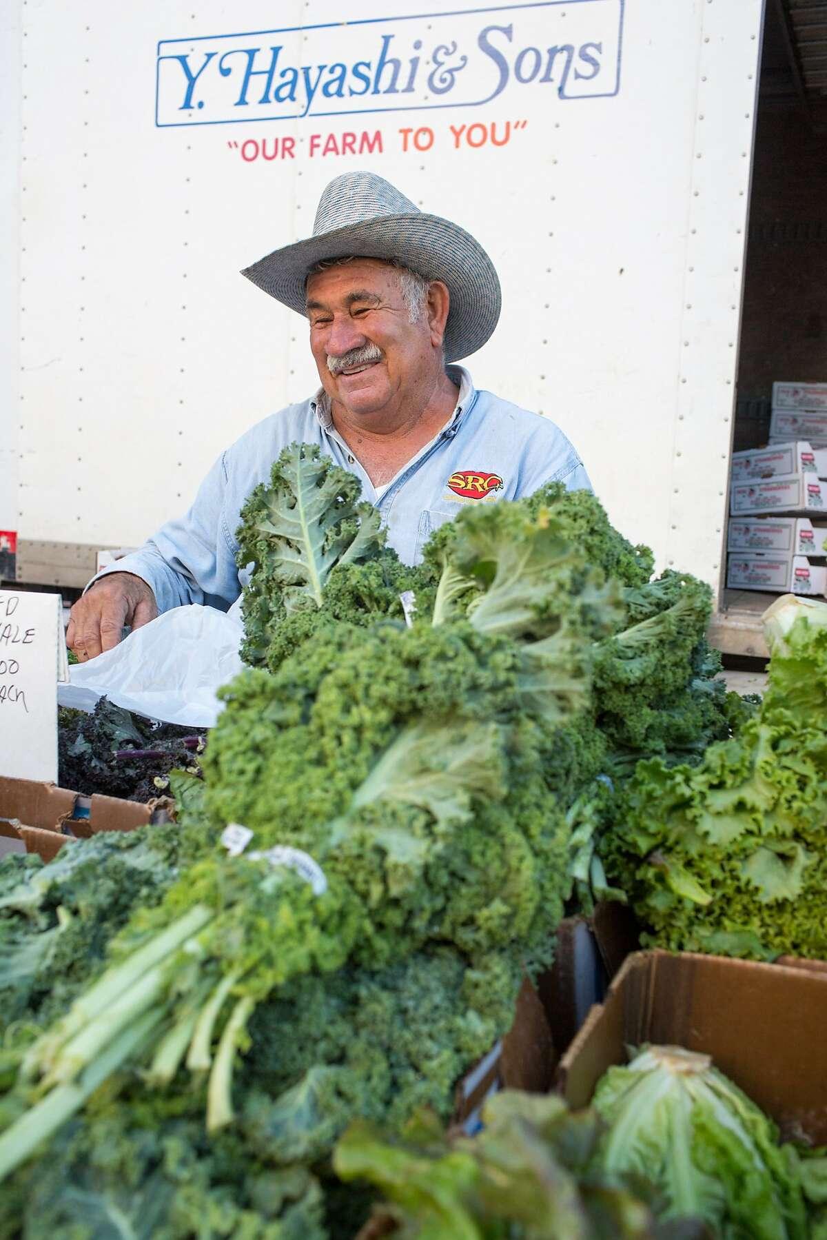 Sergio Alvarez works at the Thursday night market in San Luis Obispo, Calif., Thursday July 16, 20015. (photo by Randi Lynn Beach)