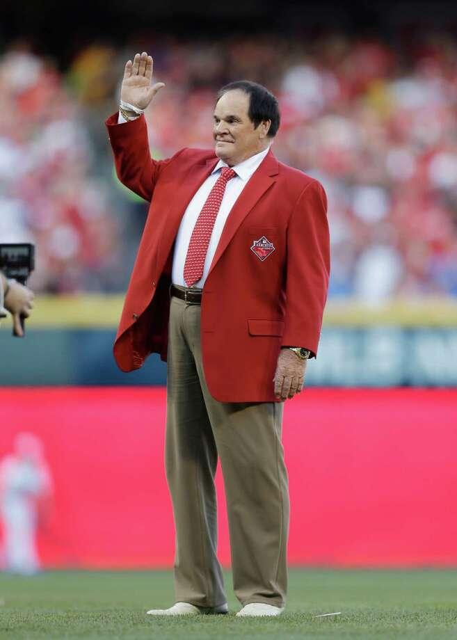 Pete Rose before the MLB All-Star baseball game, Tuesday, July 14, 2015, in Cincinnati. (AP Photo/Jeff Roberson) Photo: Jeff Roberson, STF / AP