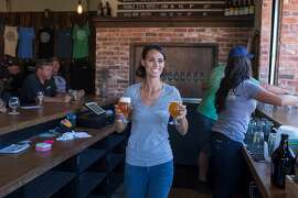 Molly Abbott, bartender, works at BarrelHouse Brewing Co. in Paso Robles, Calif., Friday July 17, 20015. (photo by Randi Lynn Beach)