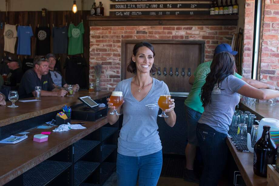 Molly Abbott, bartender, works at BarrelHouse Brewing Co. in Paso Robles, Calif., Friday July 17, 20015. (photo by Randi Lynn Beach) Photo: Randi Lynn Beach, Special To The Chronicle
