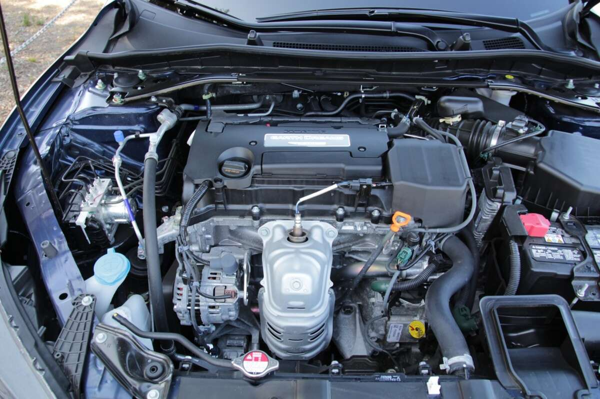 The Accord's stock 2.4-liter, four-cylinder, 185-horsepower engine.