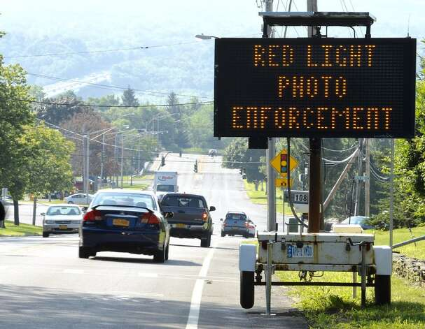 Use of red-light cameras began in Albany on Monday with the first ones going live at the eastbound approach of this intersection, Shaker Road and Northern Boulevard, and the westbound approach to Washington Avenue and Quail Street, city police announced Thursday. (Skip Dickstein / Times Union)