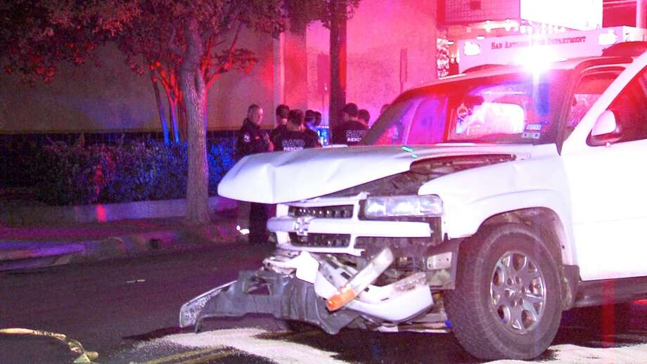 Emergency crews had to cut a woman out of a car Sunday night following a crash on the West Side. Photo: 21 Pro Video