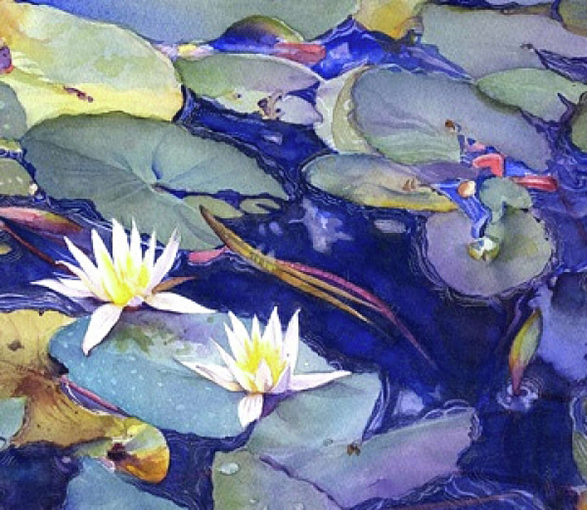"""""""Sapphire Pond"""" by Grace McEnaney is included in the new """"Fresh"""" exhibit at Art/Place gallery."""