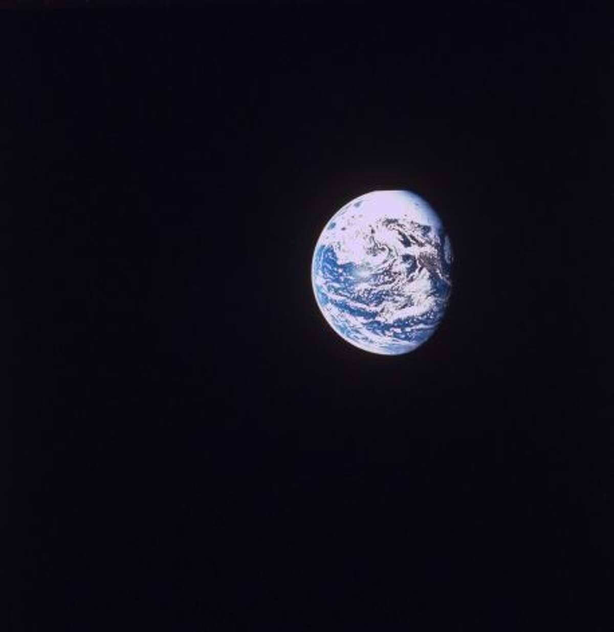 Earth as seen from space during the Apollo 8 mission. (Photo by NASA/NASA/Time & Life Pictures/Getty Images)
