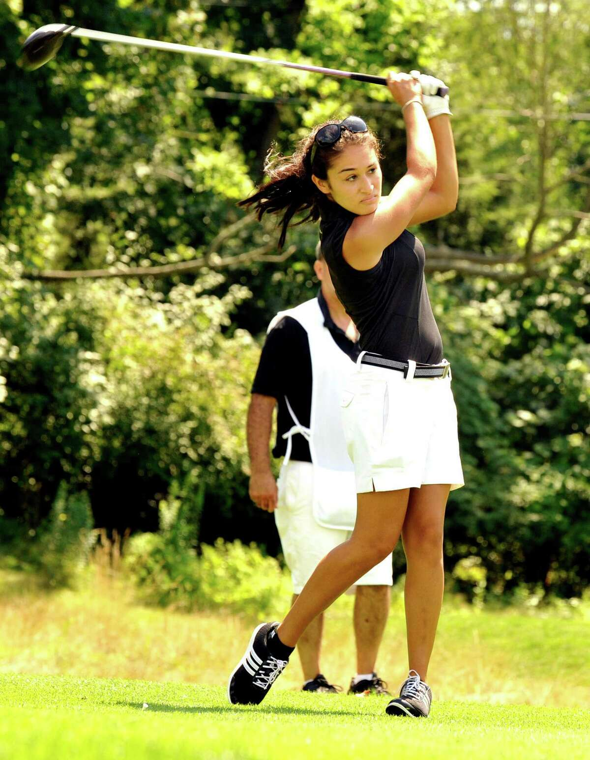 Rima Antous captured the women's crown at the Danbury Amateur golf championship Sunday.