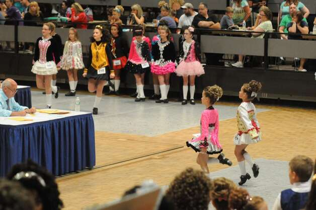 Irish dancers compete in the 27th Annual Governor Thomas Dongan Feis at the Empire State Plaza on Saturday July 18, 2015 in Albany, N.Y. (Michael P. Farrell/Times Union) Photo: Michael P. Farrell, Albany Times Union