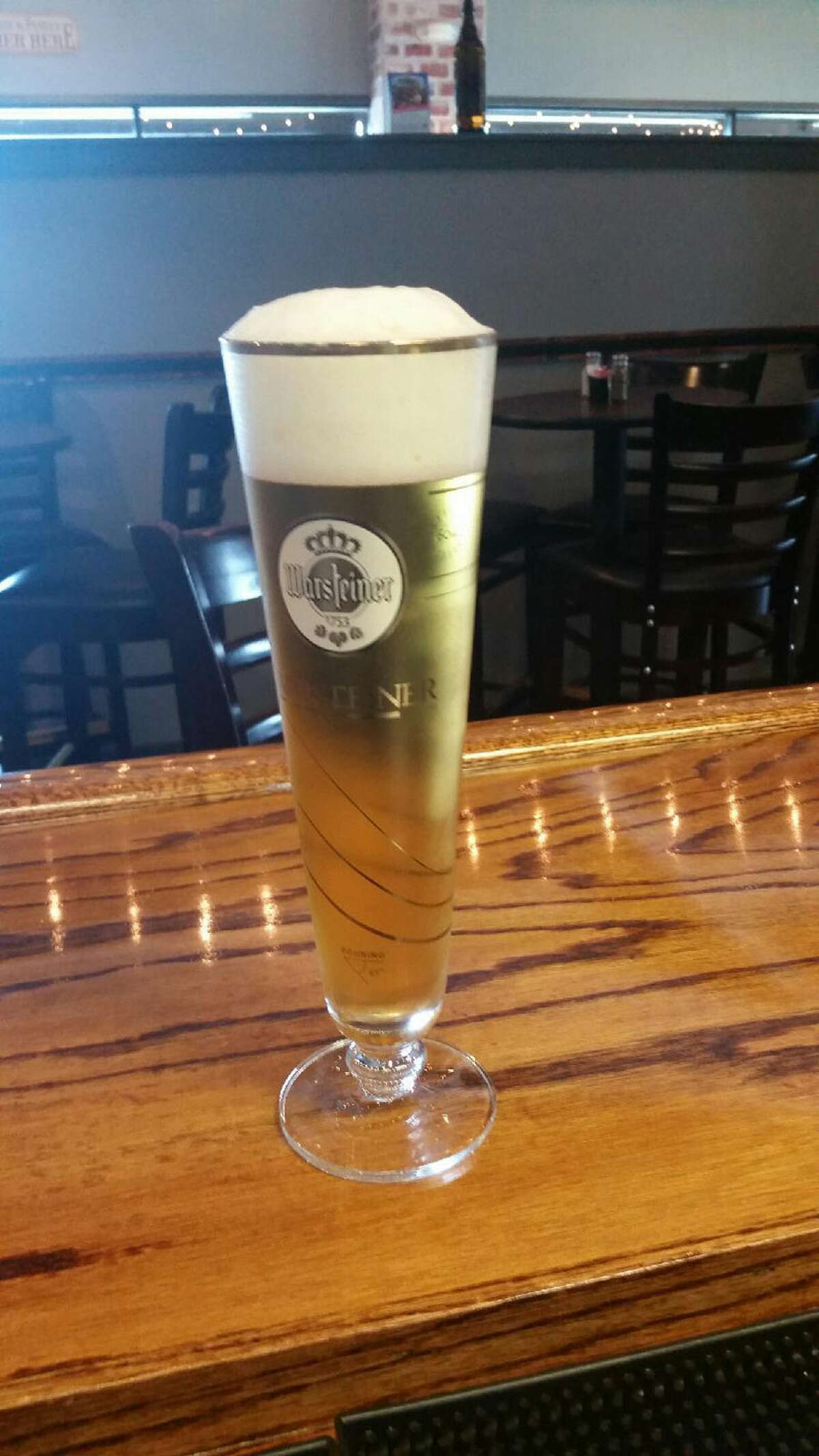 Warsteiner at Bavarian Brauhaus. If a cocktail isn't what you're craving, Bavarian Brauhaus can also serve you up an ice cold Warsteiner in a tall glass. www.bavarianbrauhaus.com