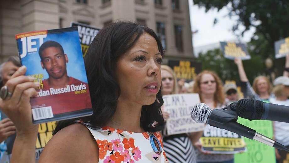 Lucia McBath, the mother of slain teenager Jordan Davis, leads a rally on behalf of her son. Photo: Participant Media