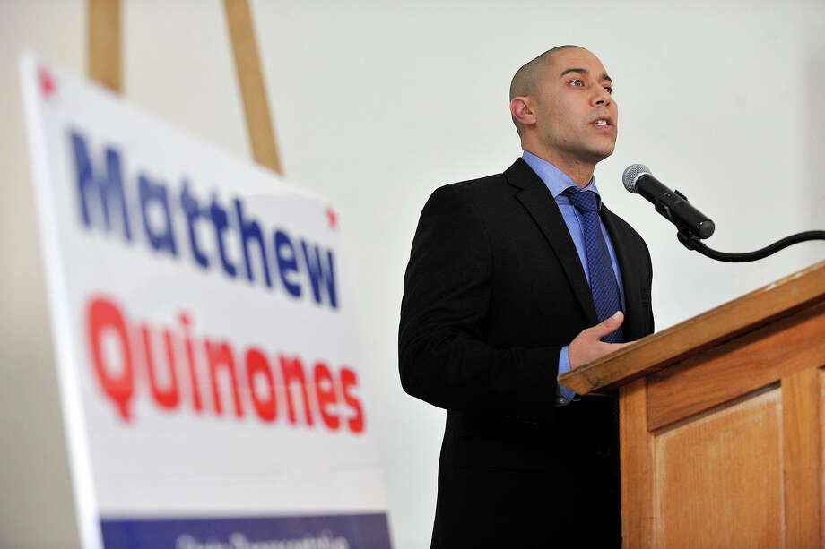 Matthew Quinones, a Democrat on the Board of Representatives in District 16, has been selected to head of the Stamford Public Education Fund. Photo: Jason Rearick / Jason Rearick / Stamford Advocate