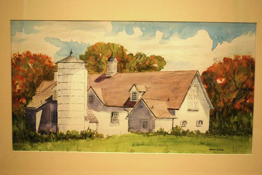 Artist Stan Pastore's watercolors of the historic barns at Sterling Farms in Stamford are part of Pastore's exhibit at  Darien Town Hall and are available for sale. Photo: Conrtibuted / Contributed / Stamford Advocate