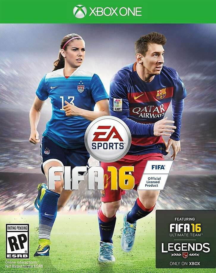 "EA Sports' ""FIFA"" soccer game will feature women on the cover for the first time. Alex Morgan, right, will join Lionel Messi in the U.S.; Christine Sinclair is with him in Canada. Photo: Electronic Arts Inc."