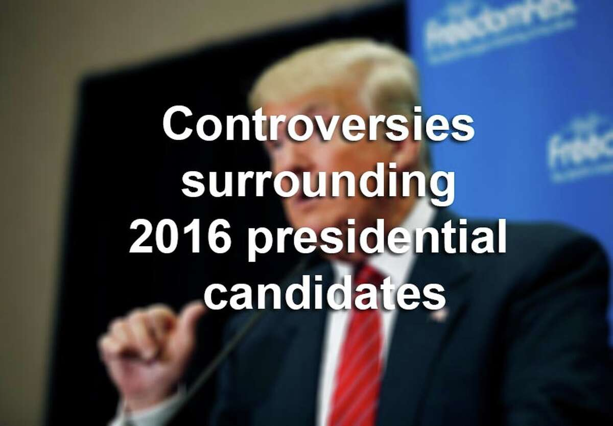 Scroll through the gallery for controversies and strange developments surrounding presidential candidates running in 2016.