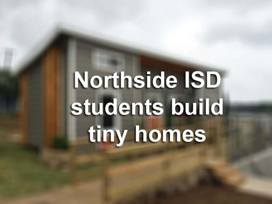 Check out a collection of photos from a competition where high school students build tiny homes for an auction.
