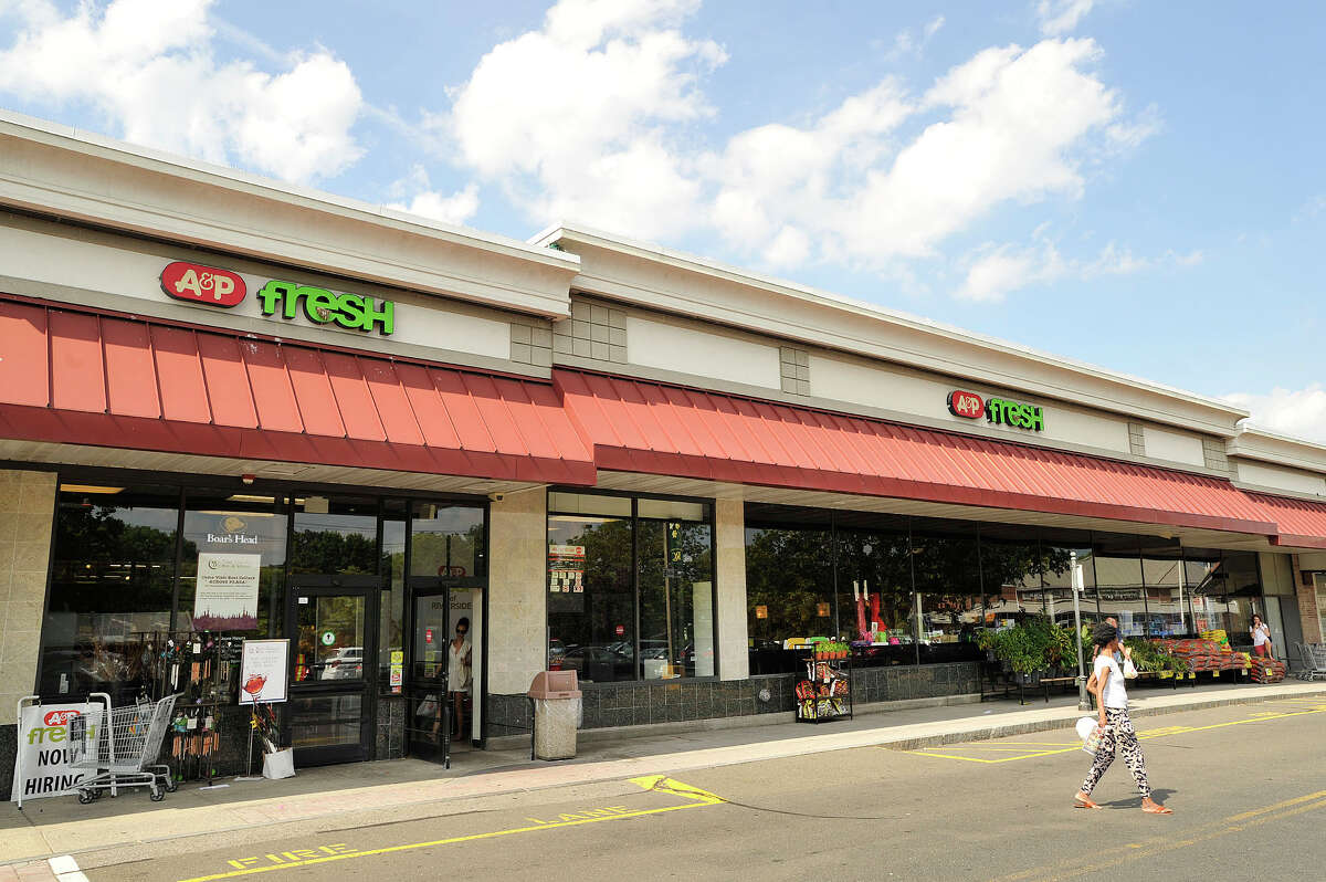 A&P Fresh supermarket can be seen in Riverside Commons in the Riverside section of Greenwich, Conn., on Monday, July 20, 2015. For the second time in five years, The Great Atlantic & Pacific Tea Company, better known as A&P, has filed for Chapter 11 bankruptcy protection. The company plans to reorganize and cut its debt by, among other things, closing 25 of its 300 stores immediately and has tentative deals to sell 120 of its stores to competitors.