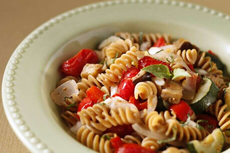 Whole Wheat Fusilli with Roasted Ratatouille Photo: Craig Lee /Special To The Chronicle
