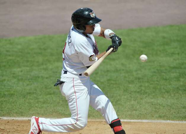 ValleyCats Antonio Nunez swings at a pitch during their game against Aberdeen on Monday, July 20, 2015, in Troy, N.Y.    (Paul Buckowski / Times Union) Photo: PAUL BUCKOWSKI / 00032632A