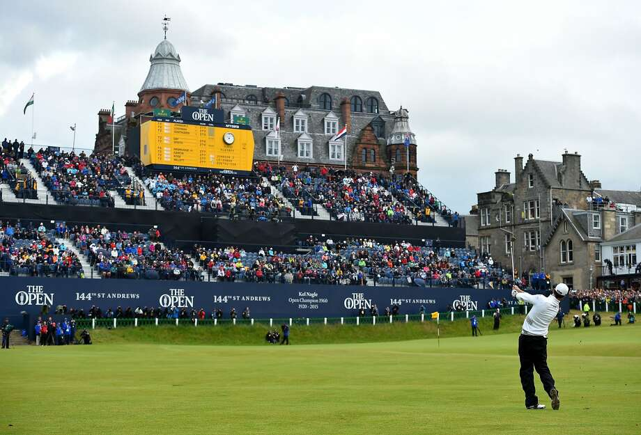 ST ANDREWS, SCOTLAND - JULY 20:  Zach Johnson of the United States plays his approach shot to the 18th green in the playoff during the final round of the 144th Open Championship at The Old Course on July 20, 2015 in St Andrews, Scotland.  (Photo by Stuart Franklin/Getty Images) Photo: Stuart Franklin, Getty Images