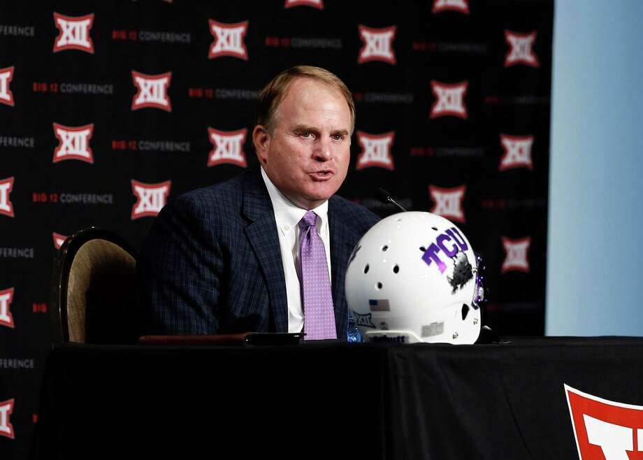 TCU head football coach Gary Patterson responds to questions from reporters at Big 12 Conference Football Media Days Monday, July 20, 2015, in Dallas. (AP Photo/Tony Gutierrez) Photo: Tony Gutierrez, STF / Associated Press / AP