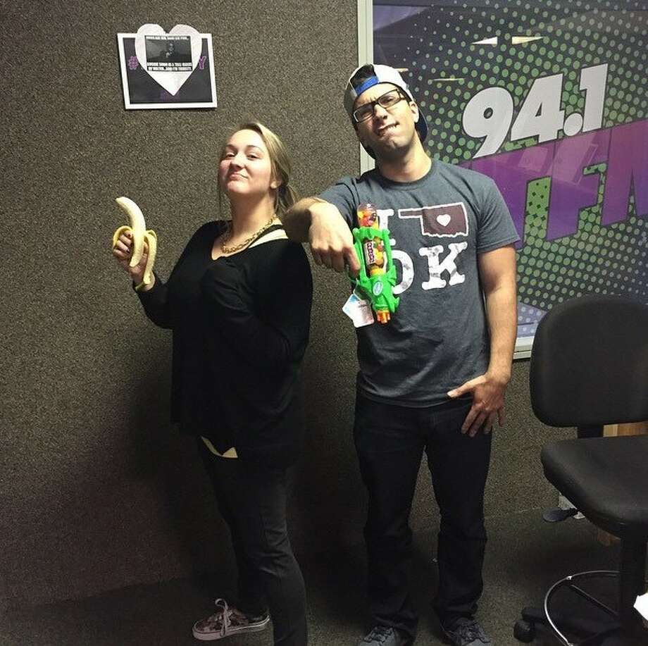"""Nugget Johnson and Rachel """"Blondie"""" Jones live, local morning show on KTFM has been replaced by a show originating in Seattle. Photo: Courtesy"""