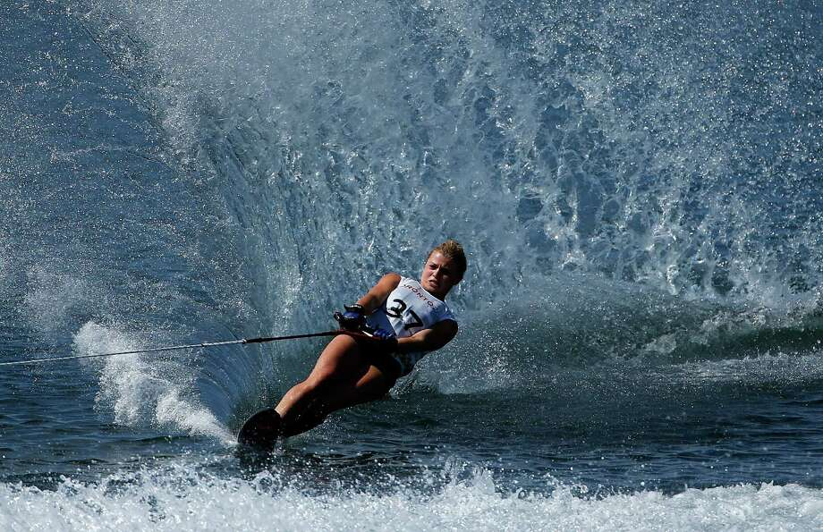 Erika Lang of the United States competes in the women's slalom waterski preliminary round on Day 10 of the Toronto 2015 Pan Am Games on July 20, 2015 in Toronto, Canada. Photo: Ezra Shaw, Getty Images / 2015 Getty Images