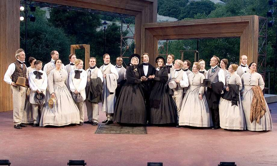 "Crowds greeted the cast with a round of applause at the beginning of Cal Shakes' ambitious production of Charles Dickens' ""The Life and Adventures of Nicholas Nickleby"" in 2005. Photo: O'Hara, John, S F Chronicle"