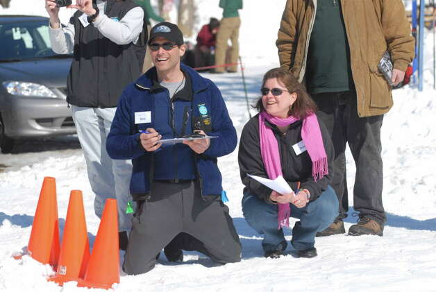 Amy Stock is shown in 2008 with Bob Lippman at an event with Saratoga Sport and Social Club during the Winter Festival Celebration for Preservation at Saratoga Spa State Park in Saratoga Springs, NY. Stock died when her car was hit by an alleged drunken driver on July 19, 2015, in Albany. (Paul Buckowski/Times Union) Photo: Paul Buckowski / Albany Times Union