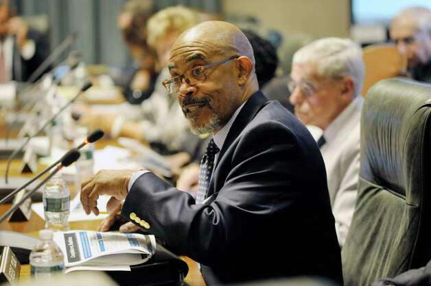 New York State Board of Regents member, Lester Young, Jr., addresses those gathered during a  Board of Regents meeting on Monday, July 20, 2015, in Albany, N.Y.   (Paul Buckowski / Times Union) Photo: PAUL BUCKOWSKI / 00032678A