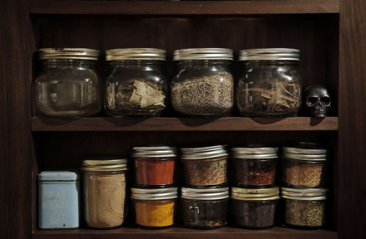 The spice rack in Dona Savitsky's home which she recently remodeled in Oakland , Calif., on Monday, July 20, 2015.