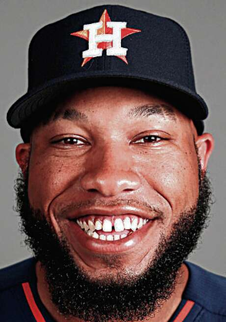 Houston Astros first baseman Jon Singleton photographed during Houston Astros spring training at the Osceola County facility, Thursday, Feb. 26, 2015, in Kissimmee. ( Karen Warren / Houston Chronicle  ) Photo: Karen Warren, Staff / © 2015 Houston Chronicle