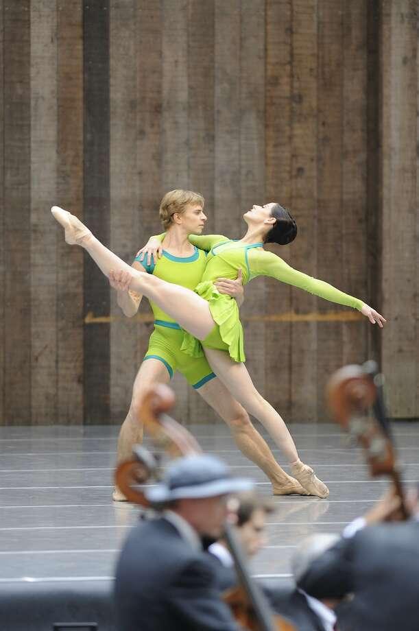 Vanessa Zahorian and Gennadi Nedvigin at Stern Grove. Photo: Erik Tomasson