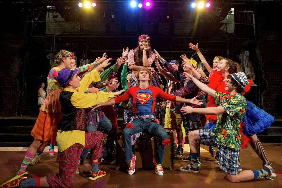 "The Staples Players will perform ""Godspell"" as its summer production. Here, the cast rehearses the number, ""Learn Your Lessons Well,"" with Jordan Goodness and Jack Baylis as Jesus at center. Photo: Contributed Photo / Westport News"