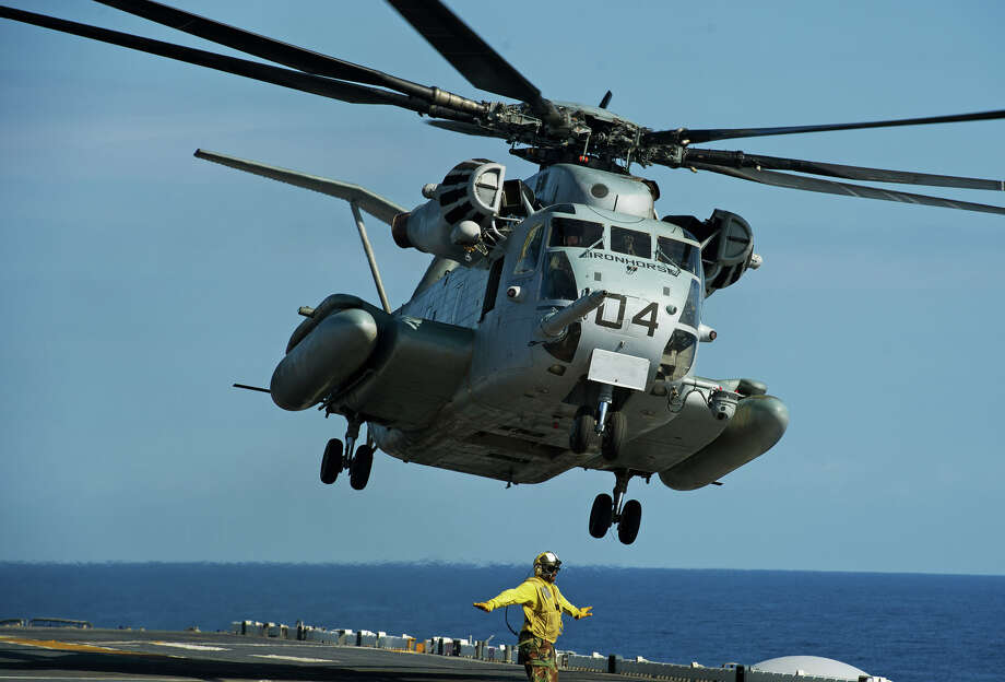 A documentary about a crash that killed three sailors raises questions about the military's aging fleet of Sikorsky CH-53E Super Stallion helicopters, which the film calls the deadliest aircraft in the armed services. Photo: AFP / PAUL J. RICHARDS/Getty Images / 2012 AFP Getty Images