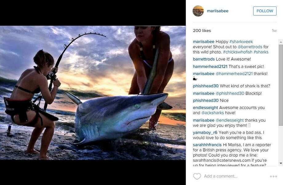 Former Miss Maine contestant Marisa Butler learned how to fish in October of 2014, but the quick learner has speedily upgraded to shark fishing; all in the name of conservation. At 21-years-old, she has caught and tagged 30 sharks, some weighing more than her. Photo: Medina, Mariah, Courtesy Photo, Instagram