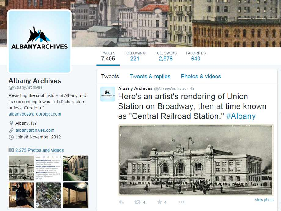 Albany Archives.Take a step back in history and learn a thing or two about the city you live in. This account tweets local history trivia and very cool old photos of Albany. Definitely a must for history buffs. This account was anonymous until Times Union was granted an interview with the man behind the account.Follow the history: @AlbanyArchives