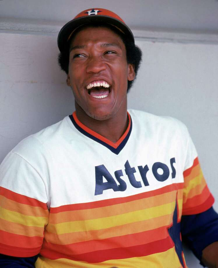 UNDATED:  J.R. Richard #50 of the Houston Astros poses for a photo.  Richard played for the Astros from 1971-1980.   (Photo by Rich Pilling/MLB Photos via Getty Images) *** Local Caption *** J.R. Richard Photo: Rich Pilling, Contributor / MLB Photos Via Getty Images / 1971 Rich Pilling