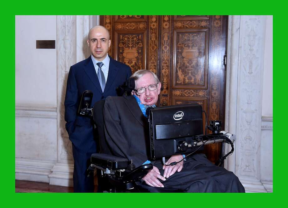 LONDON, ENGLAND - JULY 20:  DST Global Founder Yuri Milner and Theoretical Physicist Stephen Hawking ahead of a press conference on the Breakthrough Life in the Universe Initiatives, hosted by Yuri Milner and Stephen Hawking, at The Royal Society on July 20, 2015 in London, England.  (Photo by Stuart C. Wilson/Getty Images for Breakthrough Initiatives) Photo: Stuart C. Wilson, Getty Images For Breakthrough In