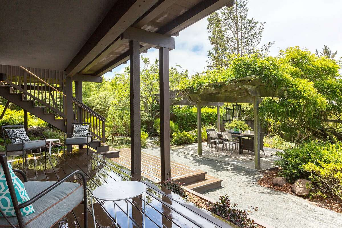 The garden level of the Kensington home includes a deck and separate patio.