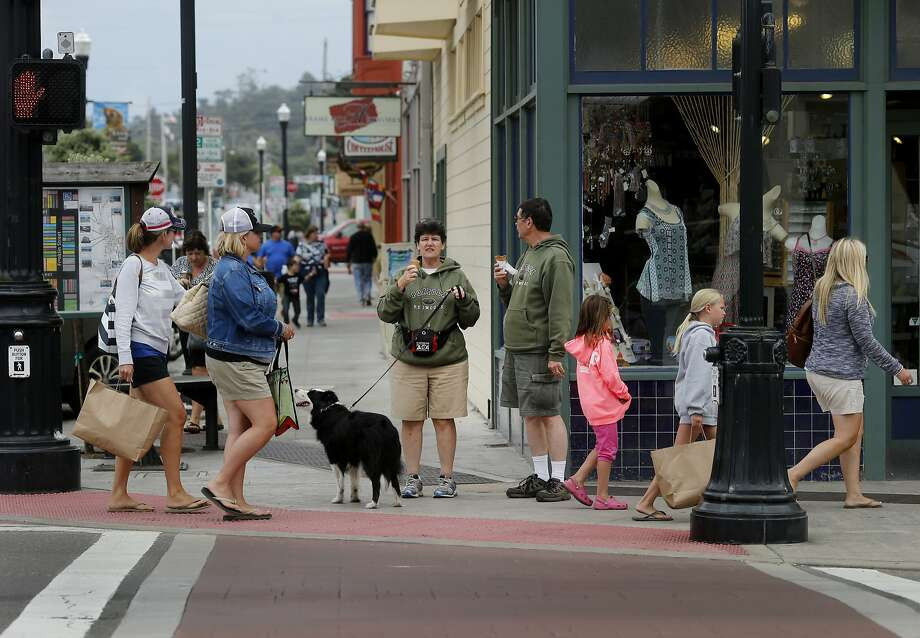 A view looking east down Laurel Street at Main in downtown Fort Bragg Monday July 20, 2015. There is little public support for a name change for Fort Bragg, California after various African American groups objected to the naming after a Confederate army general, Braxton Bragg. Photo: Brant Ward, The Chronicle