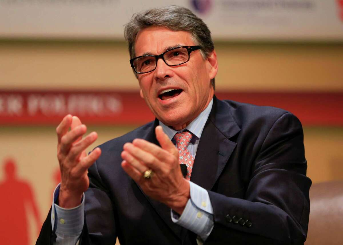 Republican presidential candidate, former Texas Gov. Rick Perry, shown in a file photo from July 18, 2015, will face one criminal count in an abuse-of-power case, but another count was dismissed by the 3rd Court of Appeals in Austin on Friday, July 24, 2015.