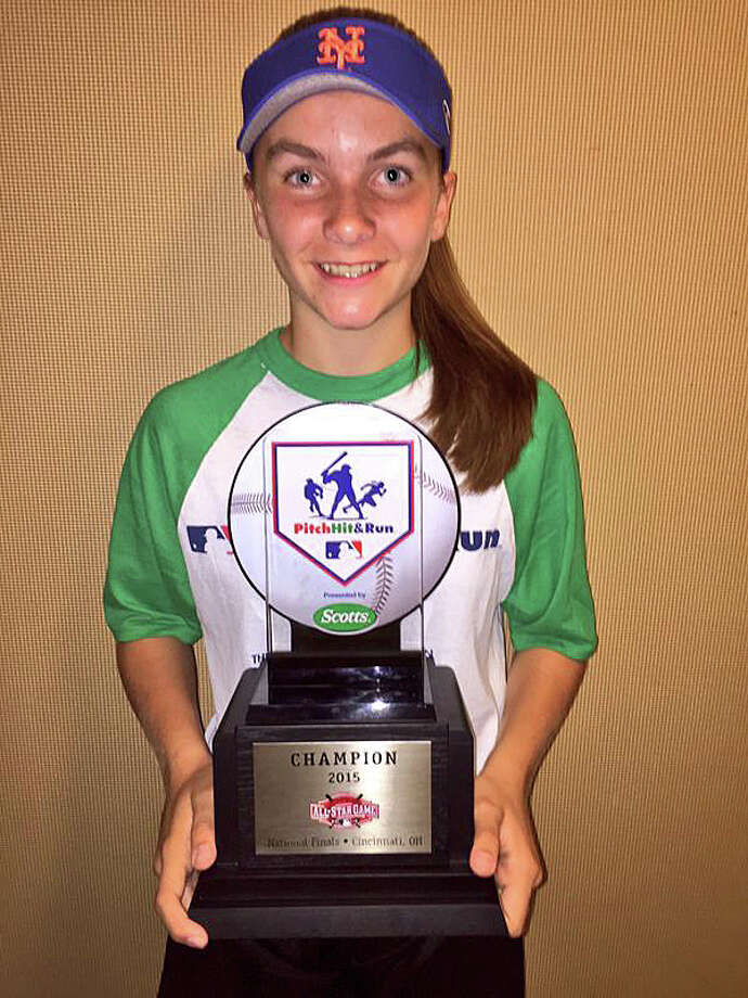 Kylee Holderied of Fairfield won the 2015 Pitch Hit & Run Championships in the 11-12-year-old girls division. Photo: Contributed / Contributed Photo / Fairfield Citizen