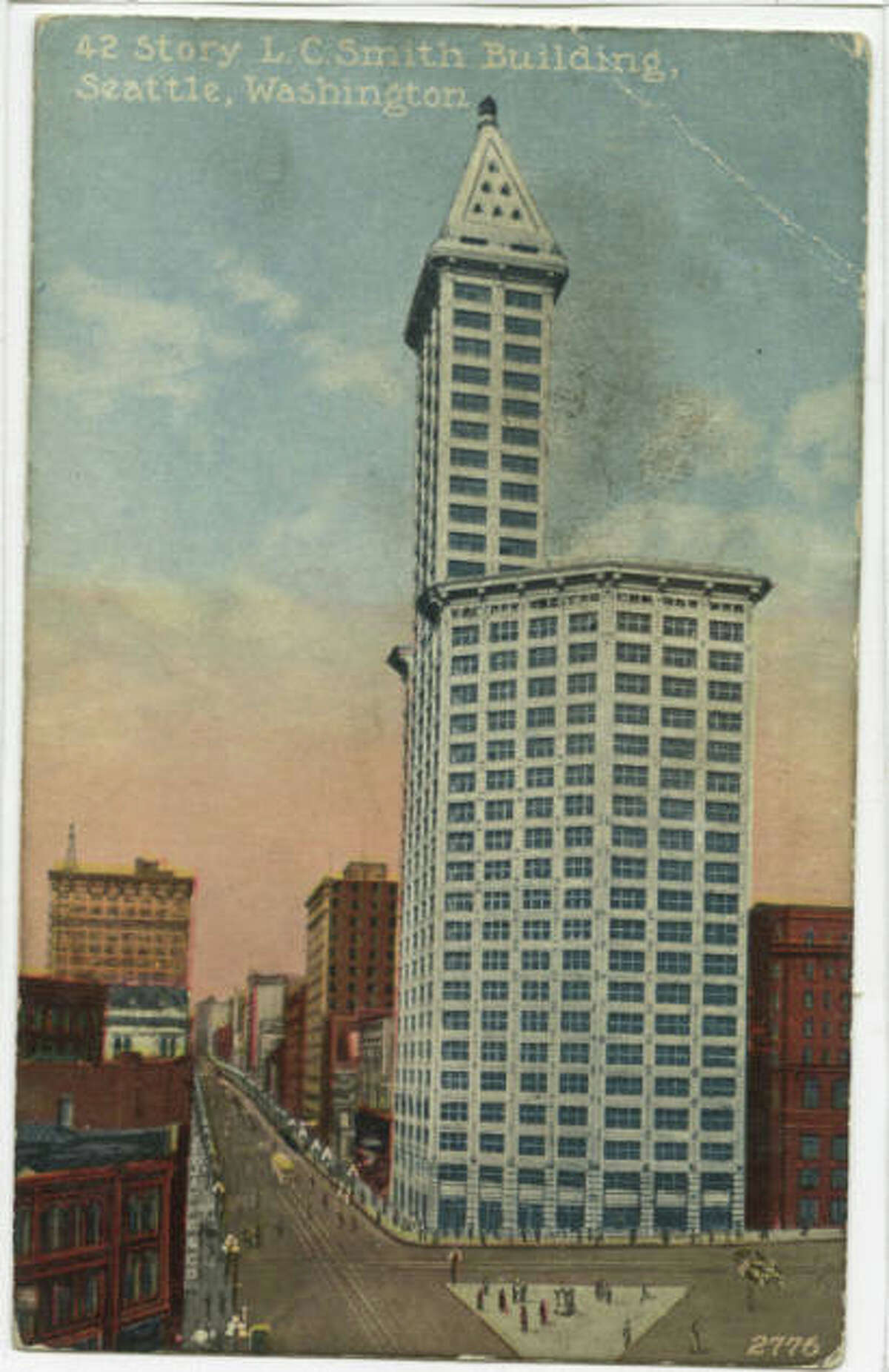 Smith Tower, pictured in 1914.