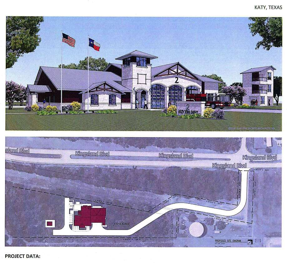 Katy's second fire station on Kingsland Boulevard, west of Pin Oak Road, could open next summer, according to city officials.  Katy's second fire station on Kingsland Boulevard, west of Pin Oak Road, could open next summer, according to city officials. Photo: City Of Katy