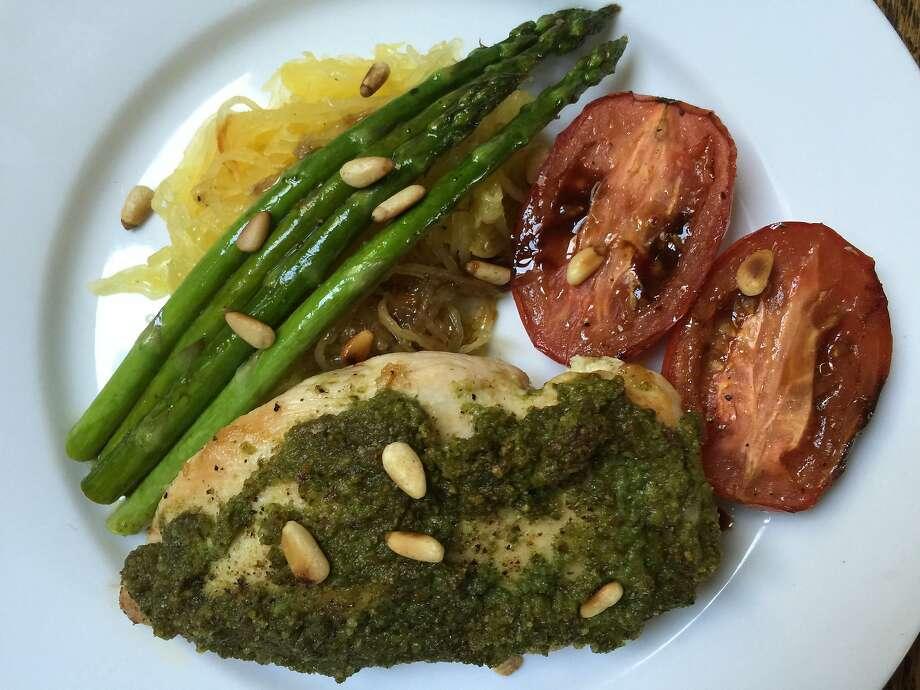 The pesto chicken from Green Chef Photo: Amanda Gold