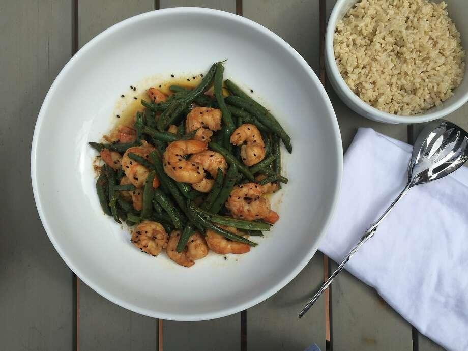 Sesame-ginger Shrimp and Green Beans Photo: Amanda Gold