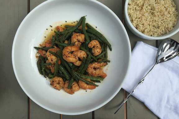 Sesame-ginger Shrimp and Green Beans