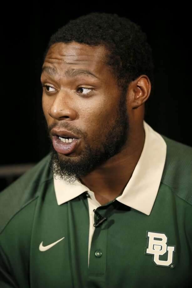 Baylor defensive end Shawn Oakman is shown at the Big 12 Conference Football Media Days in Dallas in 2015. Photo: Associated Press