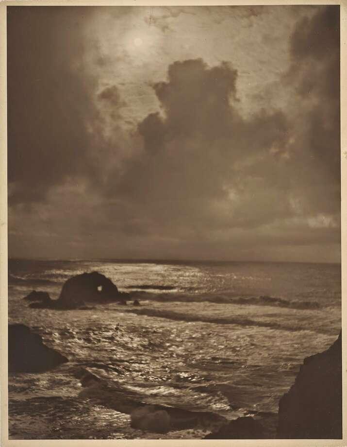 "Willard E. Worden, ""Seal Rocks,"" (ca. 1915), gelatin silver print. Photo: Fine Arts Museums Of San Francis"
